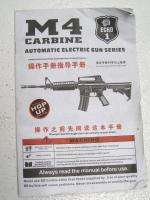 M4 Full Metal Electric Power Automatic Air Soft Carbine Assault Rifle