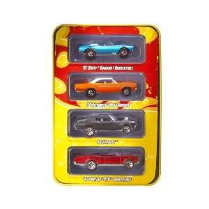 HOT WHEELS SINCE 68 4 Car Pack In Collectors Tin Toys