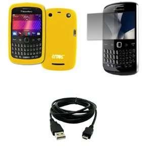 EMPIRE Yellow Silicone Skin Case Cover + Screen Protector