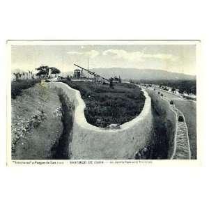 St Johns Park & Trenches Postcard Santiago De Cuba