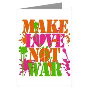 Cards (20 Pack) Make Love Not War Peace Symbol Sign