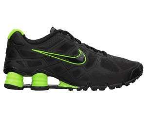 Nike Shox Turbo + 12 Black, Dark Grey, and Volt Running Shoes