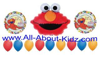 Sesame Street ELMO Birthday Party BALLOON SET Decoration