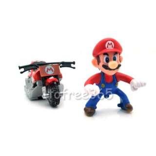 Lot 5 Super Mario Bros 2Kart Pull Back Car Figure MS79