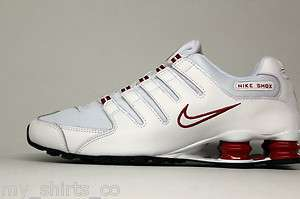 Nike Shox NZ White Red Mens Running Sneakers