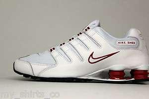 Nike Shox NZ White Red Mens Running Sneakers