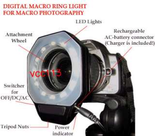 MACRO RING LIGHT FLASH FOR CANON POWERSHOT S2 S3 S5 IS