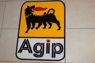 Agip Sign Motor oil Ferrari Gas station car racing garage