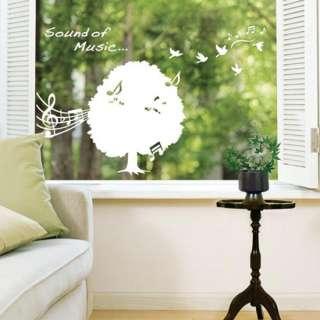 Music Tree Adhesive Removable Wall Decor Accents Graphic Stickers