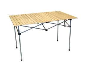Large Wood Top Outdoor Collapsible Folding Table