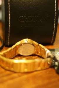 Croton CN207036 Ladies DIAMOND Gold STEEL BLACK Watch