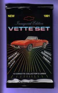 1991 Corvette Vette Set Trading Card Pack Fresh Fr Box