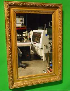 1800s Large Mirror in Gilt Frame Must See This One