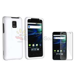 For T Mobile G2X LG Optimus Case White TPU Skin Case Cover+LCD Screen