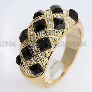 4CT Crystal Swarovski 18k Yellow Gold Plated Ring 93453