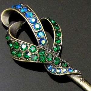 Item  1pc Austrian rhinestone crystal Antiqued hair stick