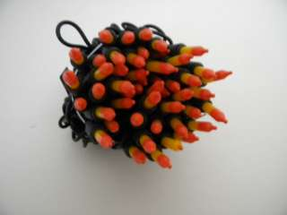 Halloween Yellow Orange 2 Tone String Mini Lights 50cnt