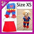 blue red puppy pet dog clothes costumes superman apparel t