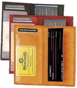 Cover Leather Wallet Check Book New Black Brown Tan Free Ship