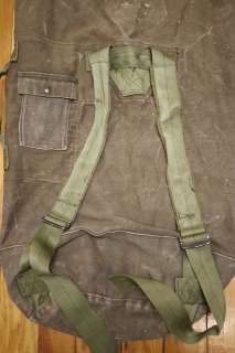 US Army Military Issued Heavy Duty COTTON Duffle Bag Backpack OD Green