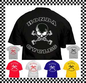 Honda Motorcycles Piston Skull T Shirt ALL SIZES cbr rr