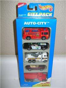 HOT WHEELS 5 CAR GIFT PACK AUTO CITY