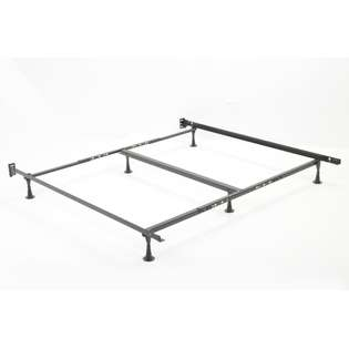 and Platt Queen or Full Metal Bed Frame with Glides