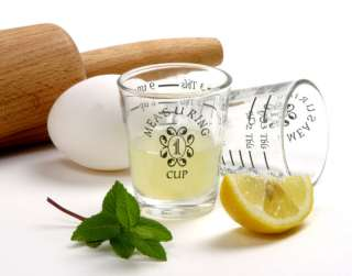 Bar Kitchen MEASURING CUP Shot Glass   Tbp Tsp Oz Ml