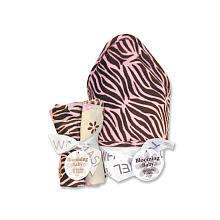 Trend Lab Sweet Safari Pink Hooded Towel & Wash Cloth Bouquet Set