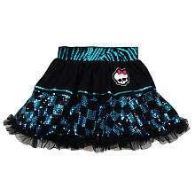 Monster High Petti Skirt   Blue Sequin   Xcessory International