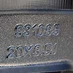 20 DVINCI GUSTO 20X8.5 CHROME BLANK WHEEL RIM