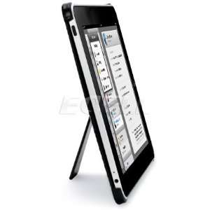 Ecell   BLACK DIAMOND EMBOSS BACK CASE & STAND FOR APPLE