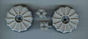 Used Lego Star Wars Clone Turbo Tank Wheels 7261