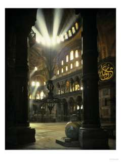 Interior of the Hagia Sophia, Built 533 537 CE Giclee Print at