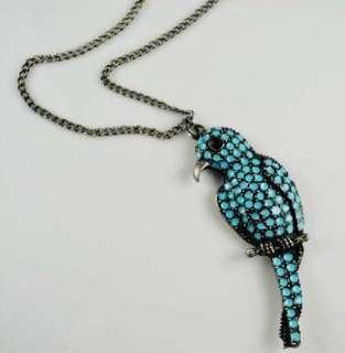 Parrot Bird Long Charm Necklace Pendant Fashion Women Jewelry