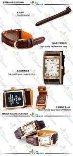 NEW EYKI Woman Couple Gold Leather Mens Wrist Watch Luxury Brown With