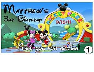 12 MICKEY MOUSE CLUBHOUSE BIRTHDAY PARTY FAVORS MAGNETS