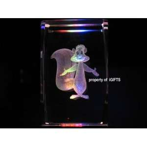 Pepe Le Pew Skunk 3D Laser Etched Crystal V Everything