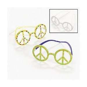 DESIGN YOUR OWN PEACE SIGN PLASTIC GLASSES (1 DOZEN