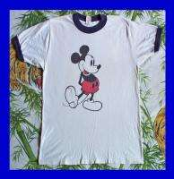 MICKEY MOUSE Vintage SHIRT 70s T 100% Combed Cotton Walt Disney