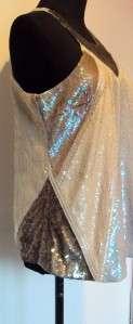 BNWT ALL SAINTS SEXY JADA AZTEC SEQUIN EMBELLISHED VEST TOP TUNIC 14