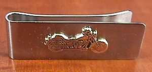 Sterling Silver 925 Harley Motorcycle MONEY CLIP