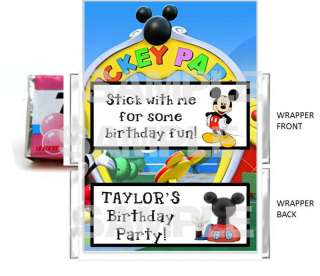 MICKEY MOUSE CLUBHOUSE PARTY chewing gum wrappers
