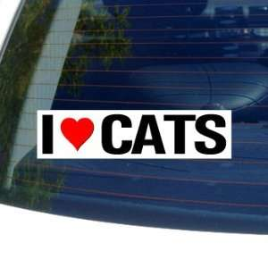 I Love Heart CATS   Window Bumper Sticker Automotive