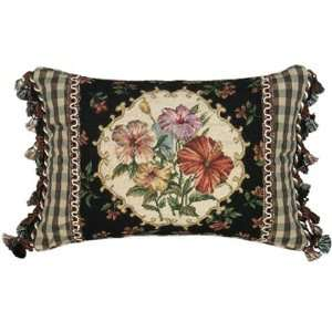 123 Creations C633.12x18 inch Hibiscus Petit Point Pillow