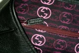 Gucci Princy Large Black Supple Leather Tote Bag Satchel Shoulder Bag