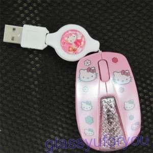 Mini Hello Kitty USB Optical Mouse 4 PC Laptop Mice S4