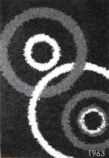 SHAG Collection 5x7 Fusion Black Carpet Area Rug