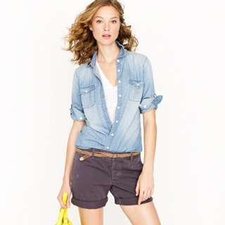 Keeper chambray shirt   casual shirts   Womens shirts & tops   J.Crew