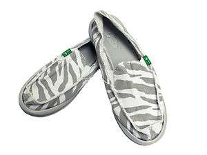 Sanuk Womens Im Game Zebra Sandals NEW
